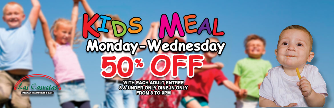 Kids Meal Mon-Wed 50% off
